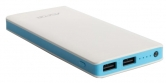 УМБ Power Bank Aspor  A341 10000mAh (2USB/1A+2.1А) white/blue