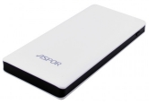 УМБ Power Bank Aspor  A341 10000mAh (2USB/1A+2.1А) white/black