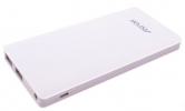 УМБ Power Bank Aspor  A341 10000mAh (2USB/1A+2.1А) white/gray