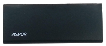 Aspor  A383 10000mAh (2USB/1A+2.1А) Ultrathin metal black