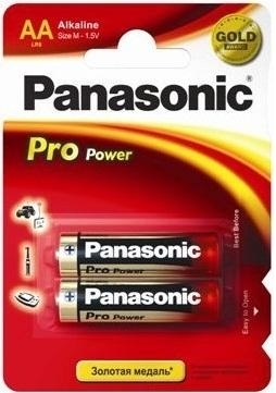 Panasonic  PRO POWER AA BLI 2 ALKALINE (LR6XEG/2BP)