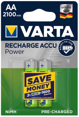 Varta  RECHARGEABLE ACCU AA 2100mAh BLI 2 NI-MH (READY 2 USE)